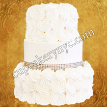 wedding cake with rhinestones