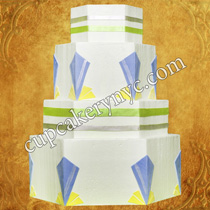 hexagon wedding cake pictures