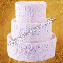 cakes with swirled details
