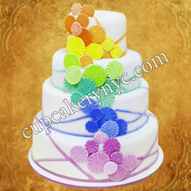 neon colored cakes