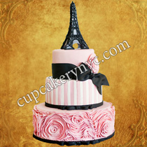 eiffel tower cake decorations