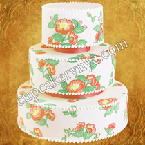 brush embroidery cake ideas