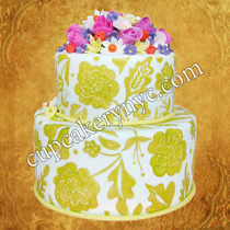 brush embroidery wedding cakes