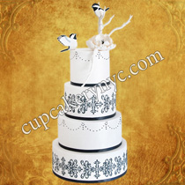 damask cake designs ideas