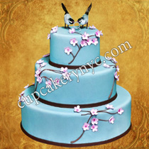 love bird wedding cakes
