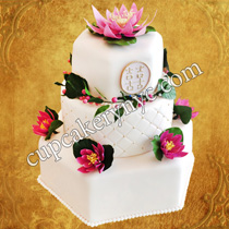 hexagon wedding cake prices