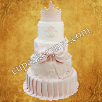 crown wedding cake topper