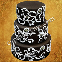 brush embroidery cake designs